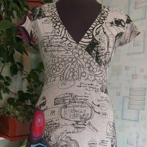 Desigual Graphic Printed Dress M